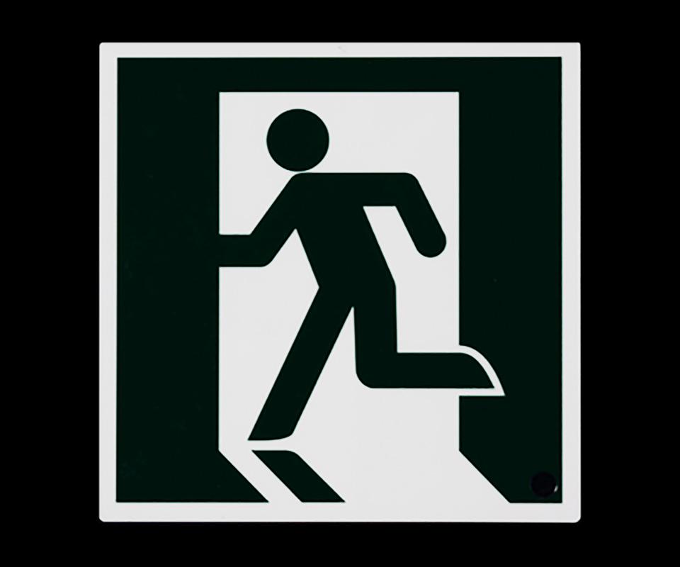 蓄光式避難誘導標識(通常時)