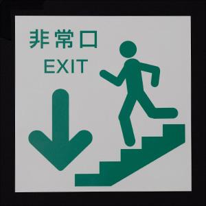 蓄光式階段避難誘導標識 通常時