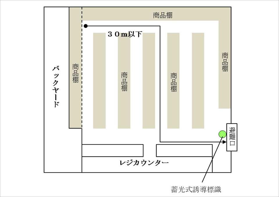 蓄光式誘導標識の設置図01