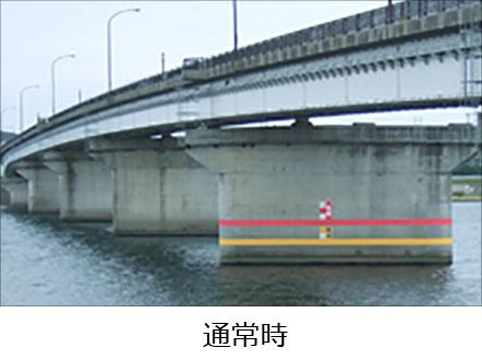 光る水性塗料,・河川量水表